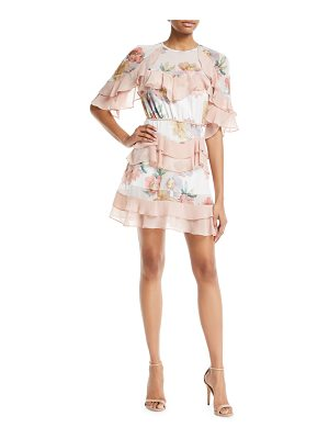 LA MAISON TALULAH Darcy Floral-Print Mini Dress With Ruffled Frills