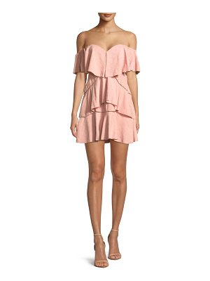 LA MAISON TALULAH Penelope Off-The-Shoulder Tiered Ruffle Mini Dress