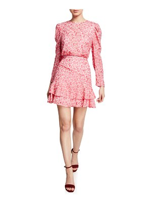 La Maison Talulah The Blossom Floral-Print Long-Sleeve Mini Dress