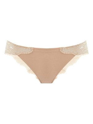 La Perla souple lace-panelled briefs