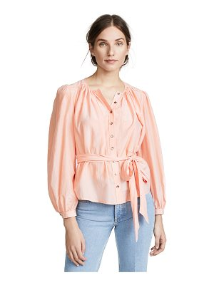 La Vie by Rebecca Taylor long sleeve silk cotton top