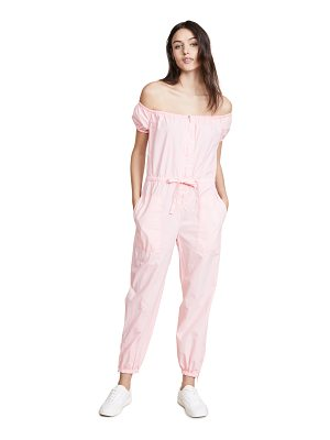 LA VIE BY REBECCA TAYLOR Off Shoulder Parachute Jumpsuit