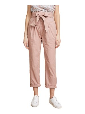 La Vie by Rebecca Taylor twill pants with tie