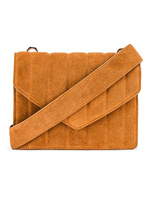L'Academie irowe quilted envelope bag