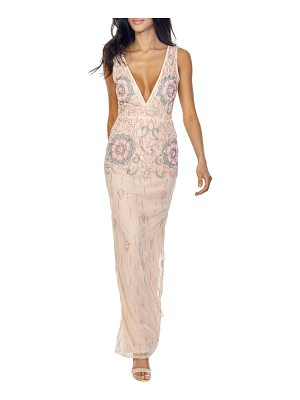 LACE & BEADS gilly sequin maxi dress