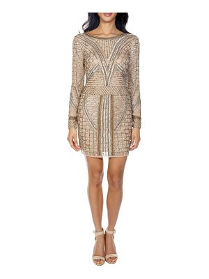 LACE & BEADS hyacinth sparkle minidress