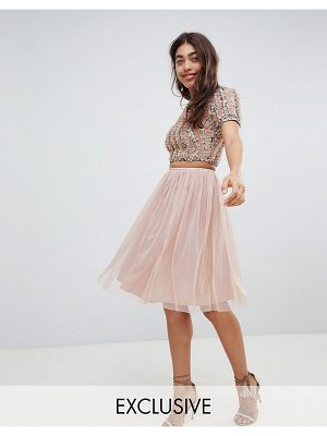LACE & BEADS Lace & Beads tulle midi skirt