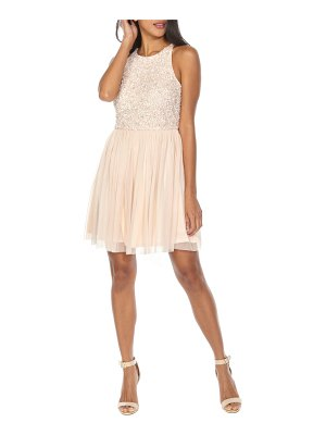LACE & BEADS picasso sequin dress