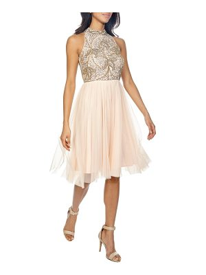 LACE & BEADS simone fit & flare dress