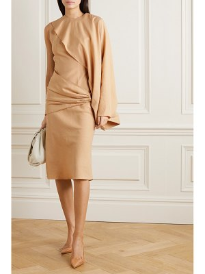 Lado Bokuchava one-sleeve belted draped twill midi dress
