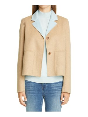 Lafayette 148 New York andover reversible wool & cashmere jacket