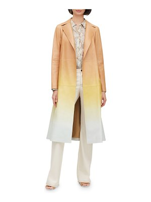 Lafayette 148 New York Avrielle Ombre Lambskin Leather Trench Coat