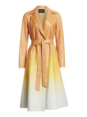Lafayette 148 New York avrielle ombré leather trench coat