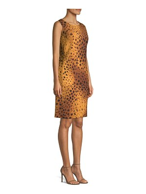 Lafayette 148 New York bibana reversible cheetah print shift dress
