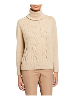 Lafayette 148 New York Cashmere Funnel-Neck Cable Sweater