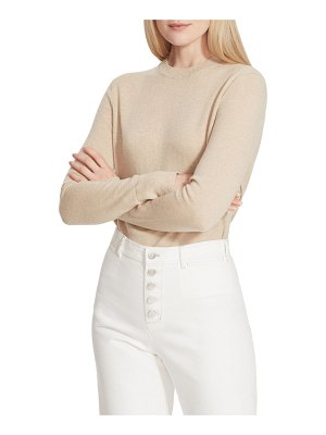 Lafayette 148 New York Crewneck Cashmere Sweater with Metallic