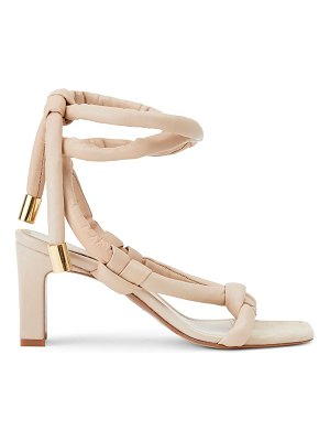 Lafayette 148 New York delphine ankle-wrap padded leather sandals