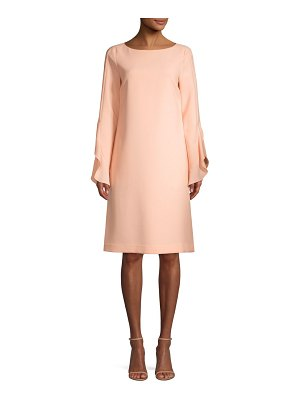 Lafayette 148 New York emory ruffle cuff shift dress