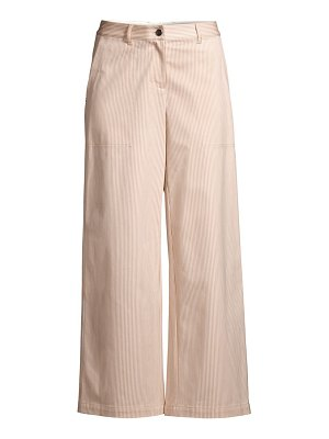 Lafayette 148 New York fulton micro stripe cropped wide-leg pants