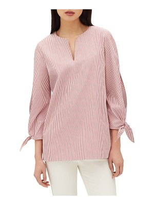 Lafayette 148 New York khloe split sleeve blouse