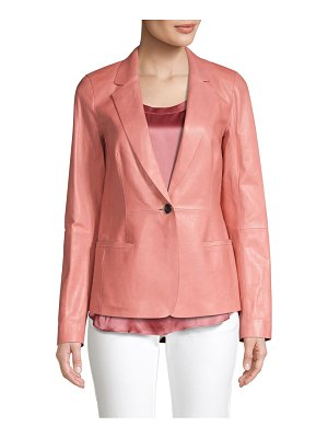 Lafayette 148 New York leather blazer