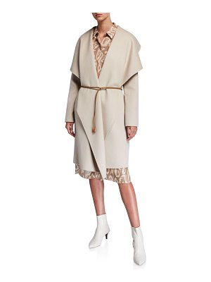 Lafayette 148 New York Monico Draped Cashmere Coat