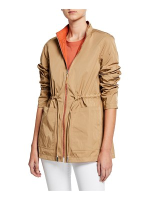 Lafayette 148 New York Palomina Eclipse Outerwear Reversible Zip-Front Jacket