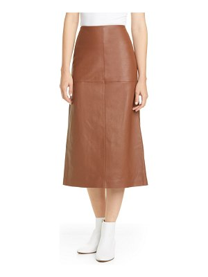 Lafayette 148 New York pascoe leather midi skirt