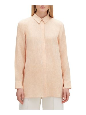 Lafayette 148 New York Porto Illustrious Linen Blouse