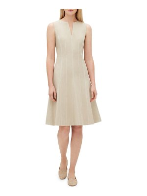 Lafayette 148 New York Rochelle Split-Neck Sleeveless Bi-Stretch Dress