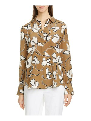 Lafayette 148 New York scottie floral silk blouse