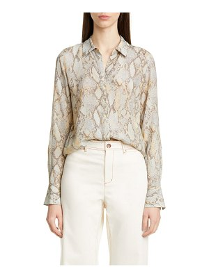 Lafayette 148 New York scottie snake print blouse
