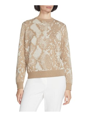 Lafayette 148 New York snake jacquard silk blend sweater