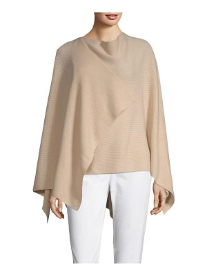 Lafayette 148 New York textured cashmere cape