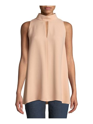 Lafayette 148 New York Tiffany Double-Georgette Silk Blouse