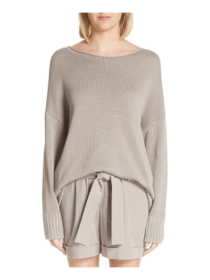 LAFAYETTE 148 NEW YORK Vanise Relaxed Cotton & Silk Sweater