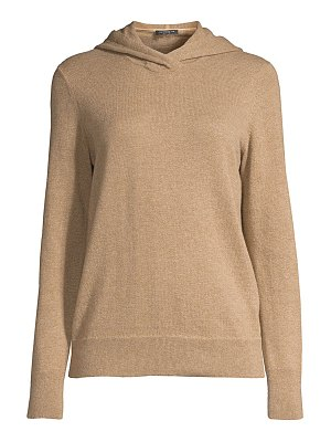 Lafayette 148 New York wool & cashmere hooded sweater