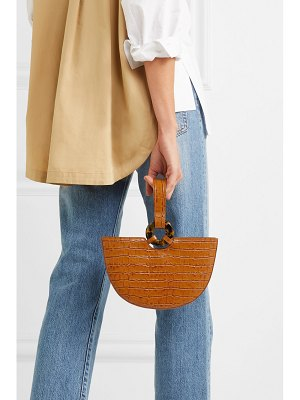 L'AFSHAR ela croc-effect leather tote