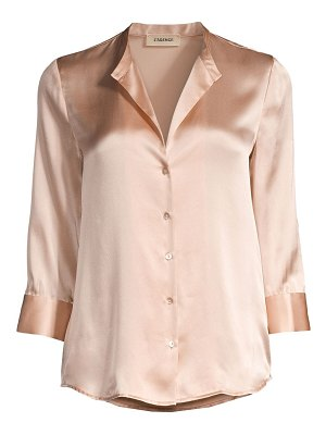 L'Agence aoki three-quarter sleeve silk blouse