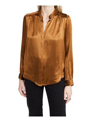 L'Agence bianca band collar silk blouse