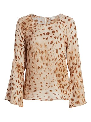 L'Agence dylan bell-sleeve silk top