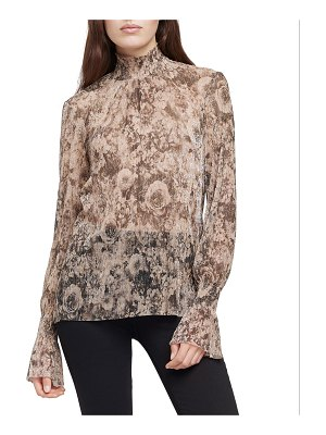 L'Agence Paola Smocked Floral Long-Sleeve Blouse