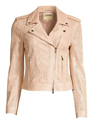 L'Agence the biker cutwork leather moto jacket