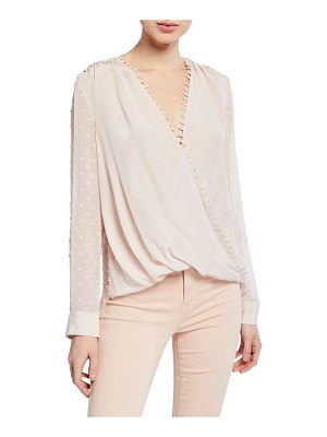 L'Agence Perry Textured V-Neck Blouse