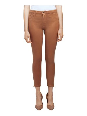L'Agence Sabine High-Rise Skinny Jeans with Zipper