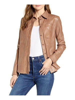 LaMarque torrin leather shirt jacket