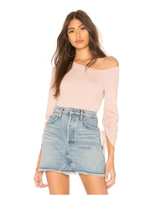 LANSTON One Shoulder Drawstring Top