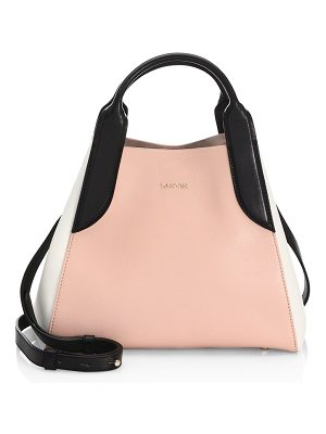LANVIN Mini Le Cabas Leather Tote