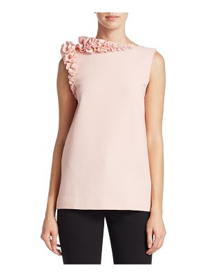 Lanvin sleeveless ruffle top
