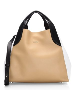 LANVIN Small Leather Tote Bag